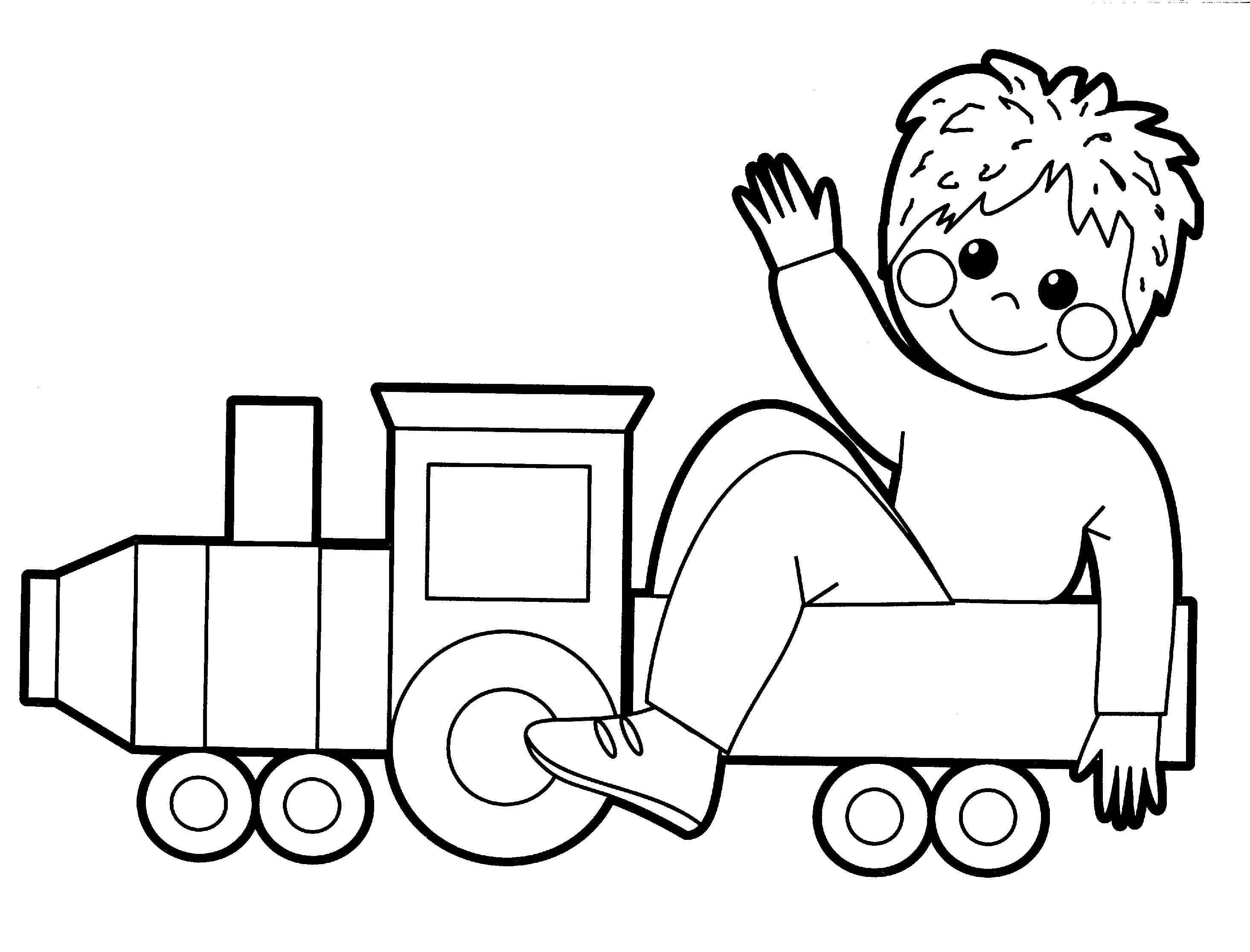 Toys coloring pages for babies