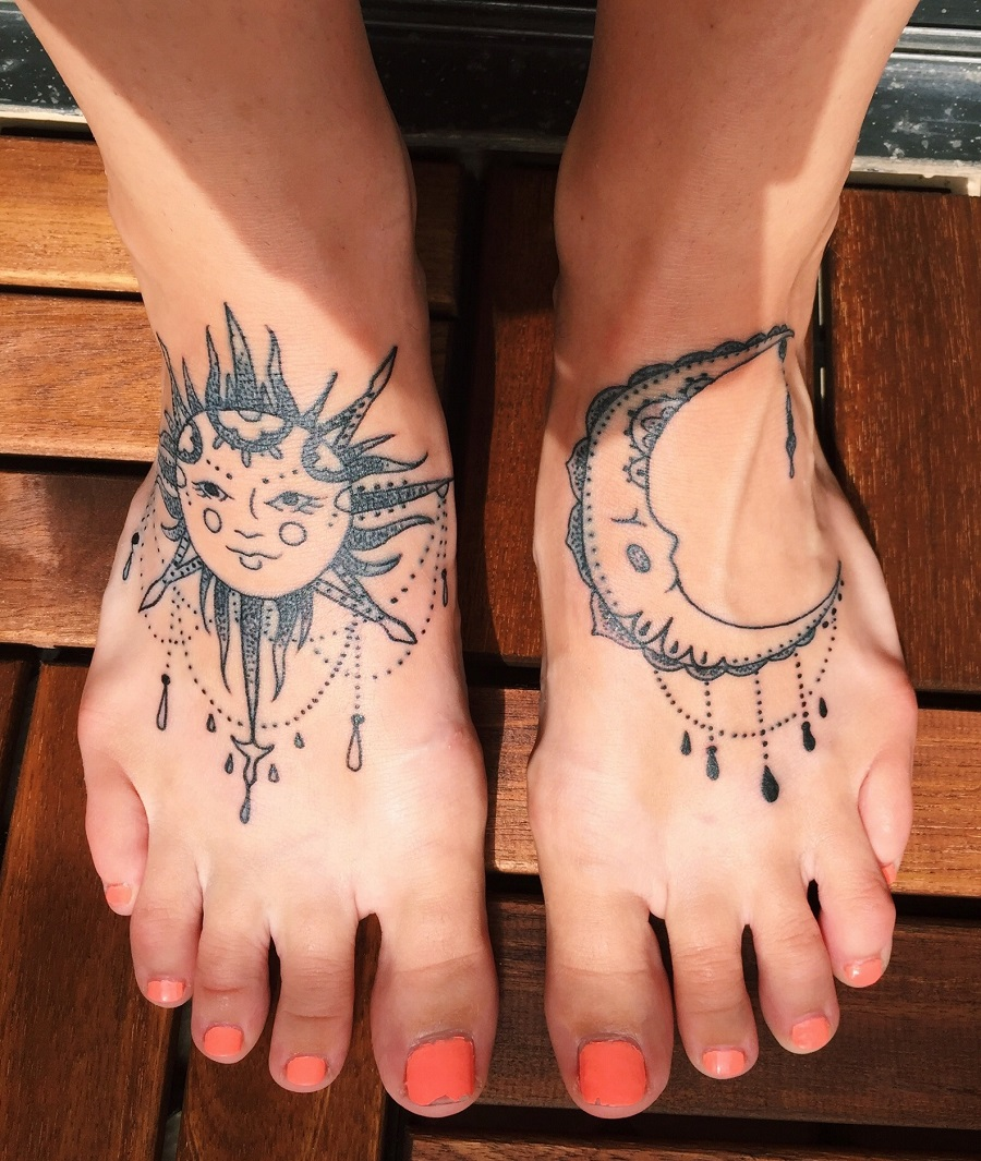 Sun-and-Moon_foot-tattoos