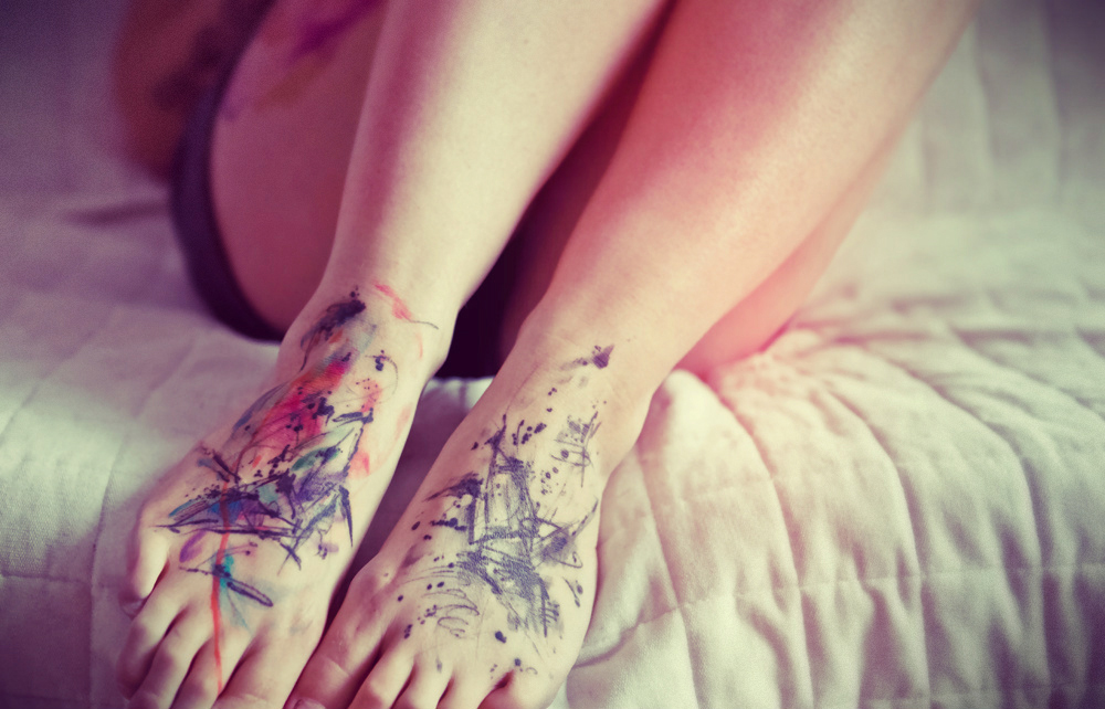 Watercolor-Feet-Tattoos