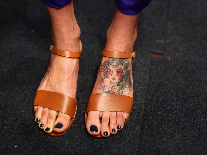 cute foot tattoos for girls