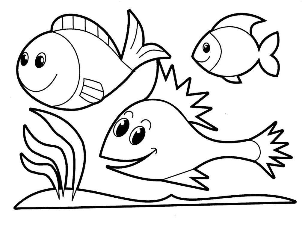 fish coloring page for teens