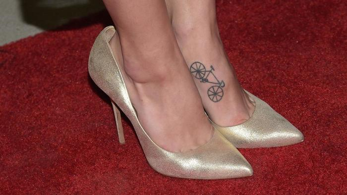 foot tattoos for women bicycle