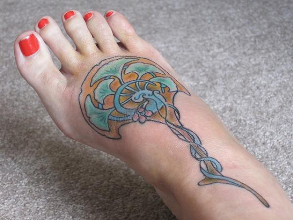 nouveau-fan-foot-tattoos for females