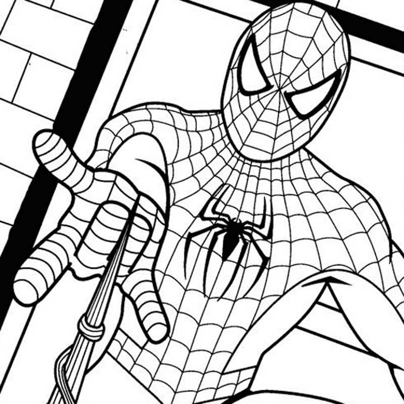 spider man coloring pages for teens