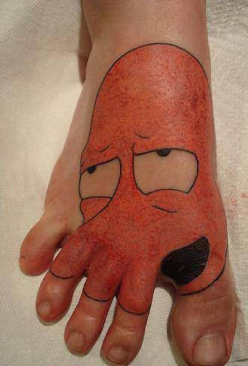 zoidburg foot tattoos