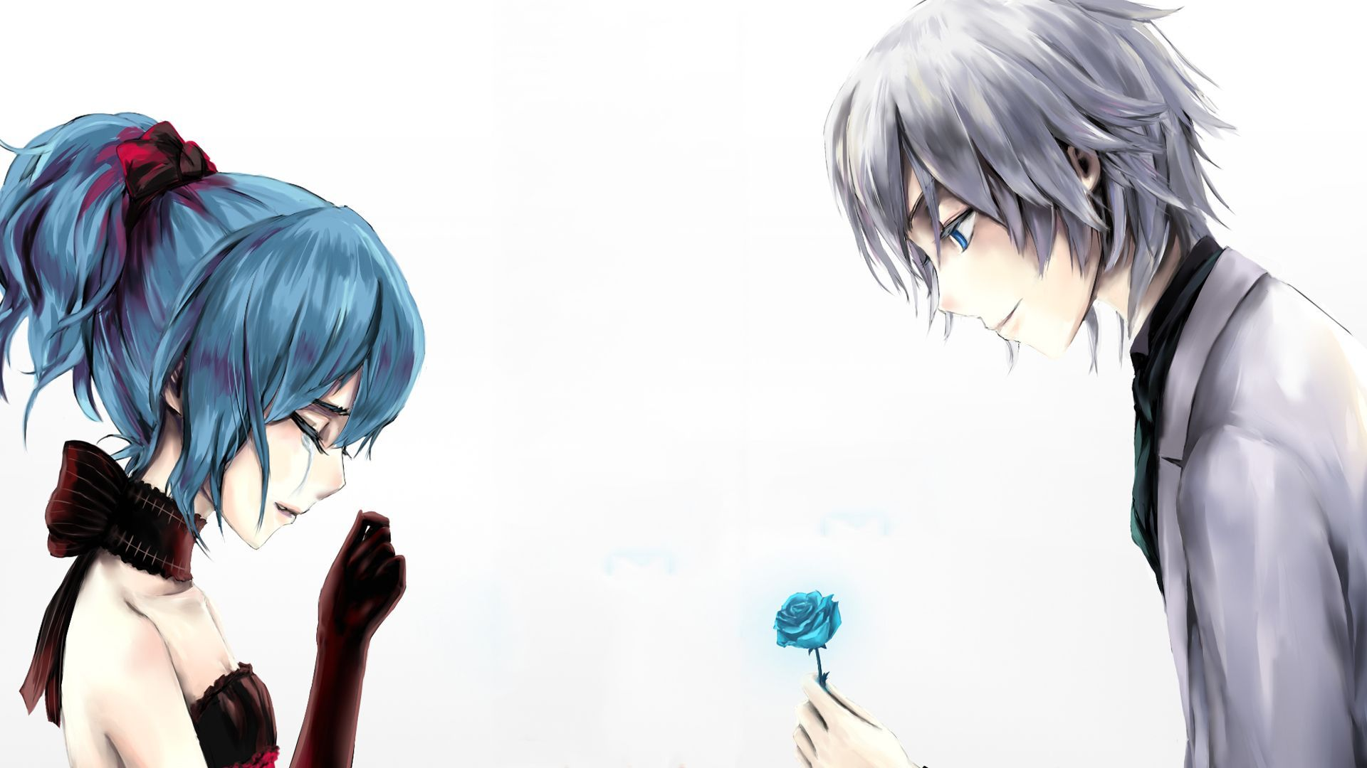 Anime-Love-Couple-Boy-Giving-a-Rose-to-Girl-Crying-Wallpaper