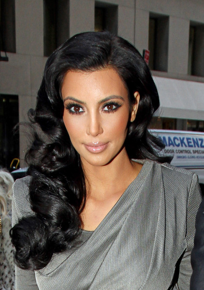 Beautiful Kim Kardashian Hairstyles picture