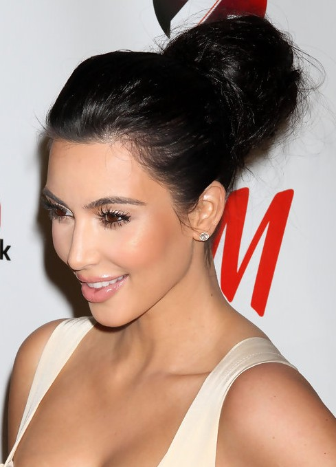 Kim-Kardashian-Long-Hairstyles-High-Voluminous-Updo-Hairstyle