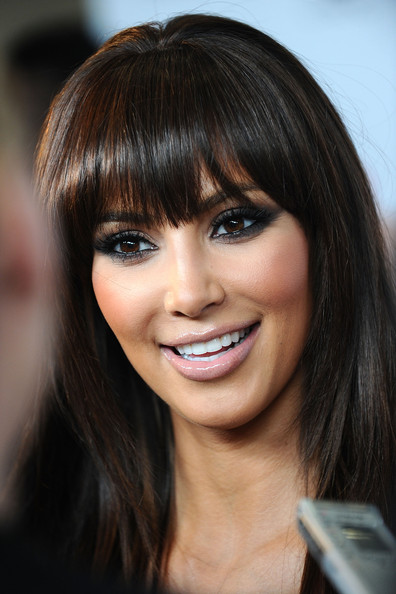 Pretty-Kim-Kardashian-Hairstyles-With-Bangs