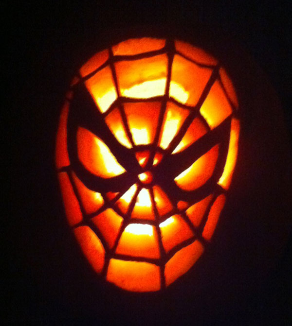 Spiderman-Pumpkin-Carving-Idea