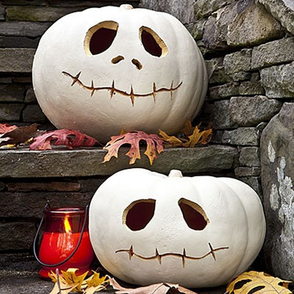 pumpkin-skulls-pumpkin carving idea 2016