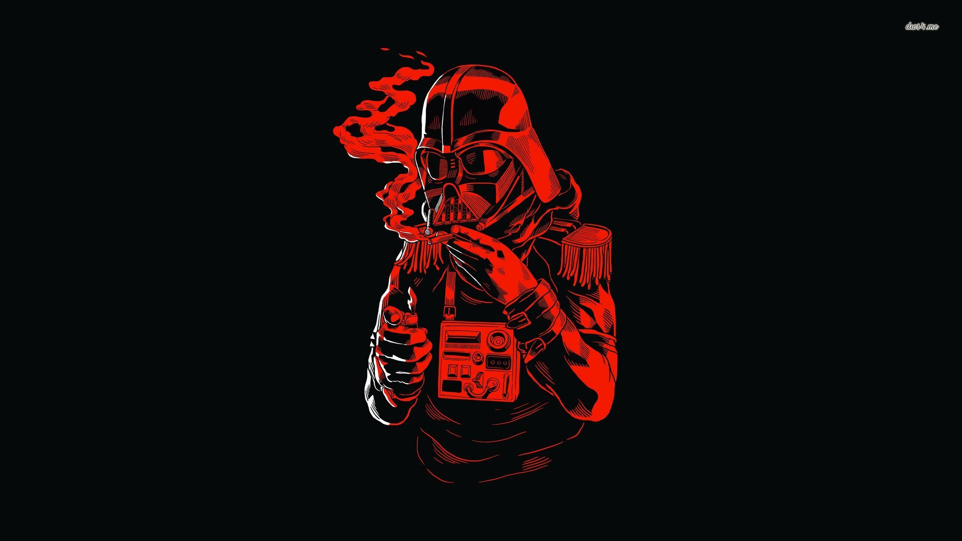 red-darth-vader-smoking-wallpaper