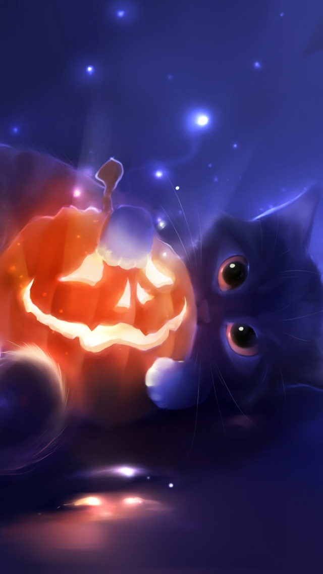black-cat-halloween-iphone-wallpapers