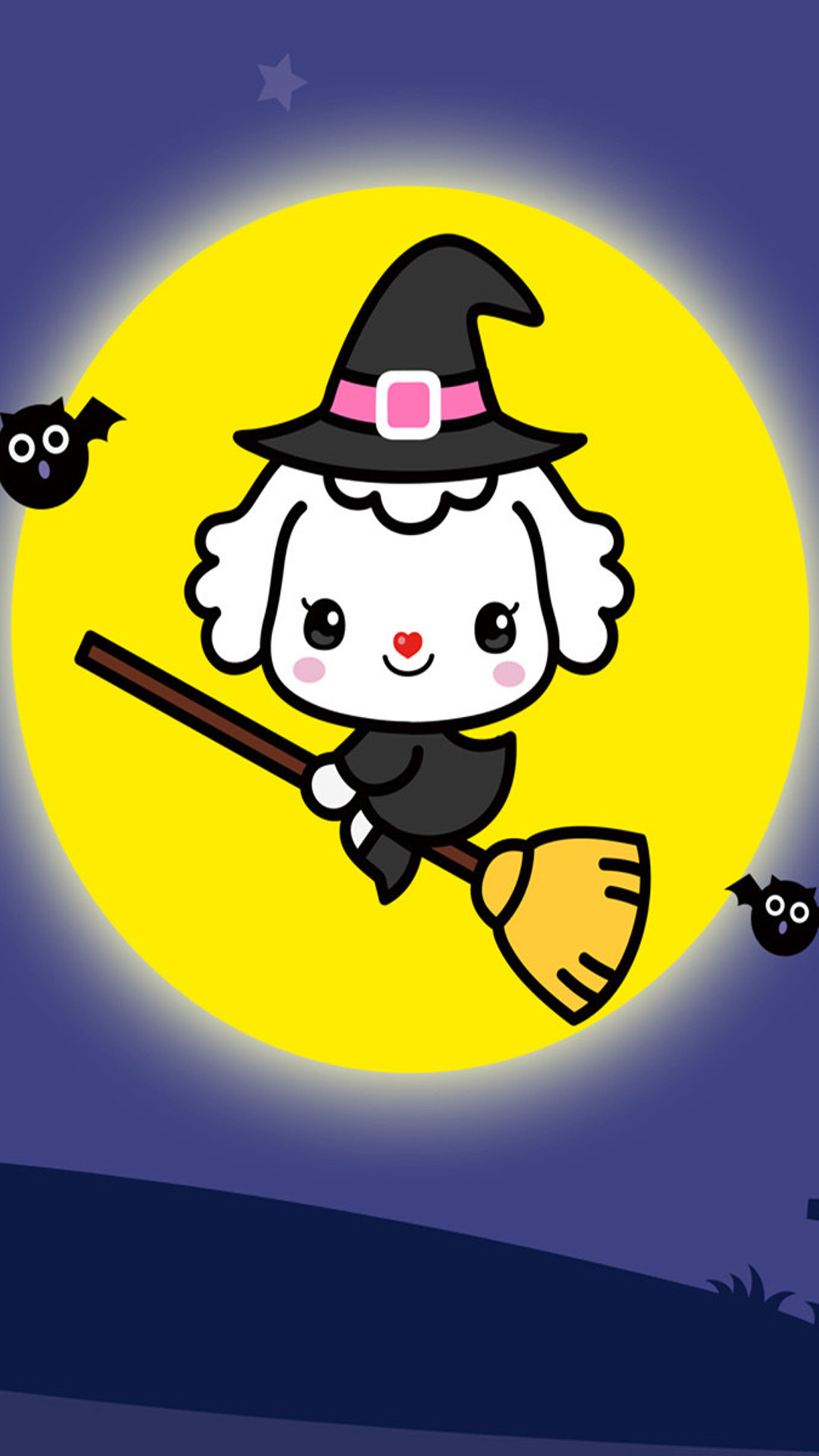 Cartoon Halloween iOS Wallpaper