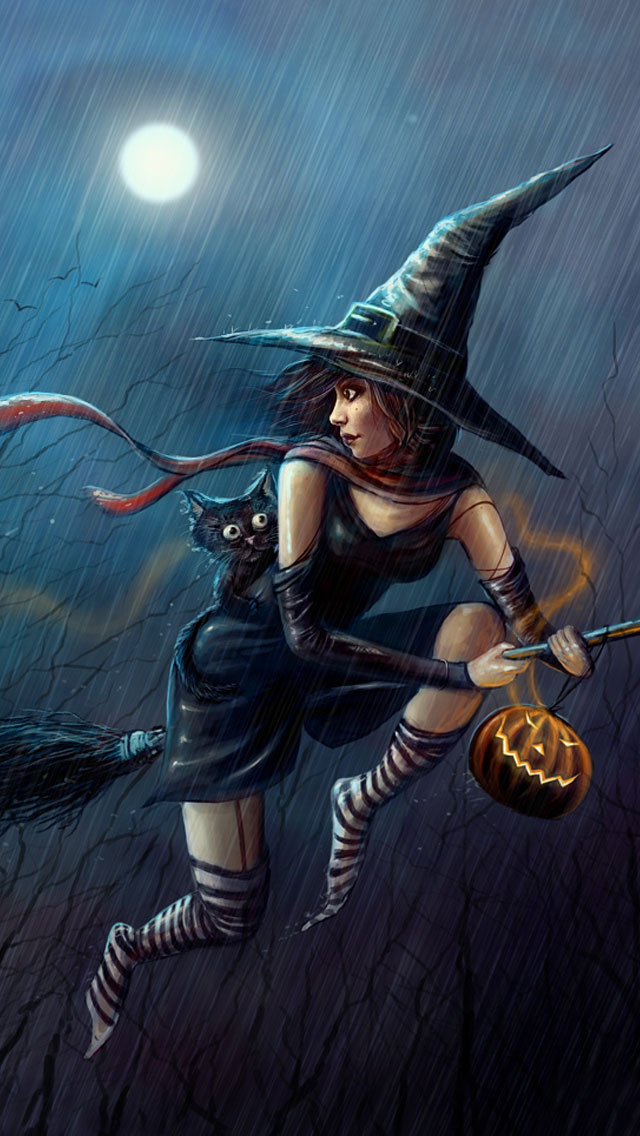 halloween-not-so-evil-witch-iphone-wallpaper