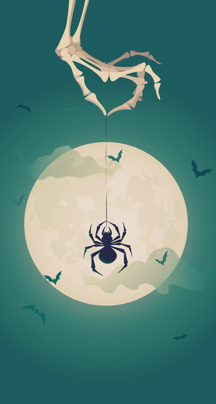 halloween-theme-tricky-iphone-parallax-wallpaper