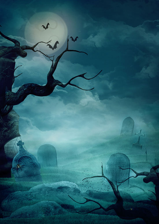 graveyard-scary-halloween-iphone-wallpaper