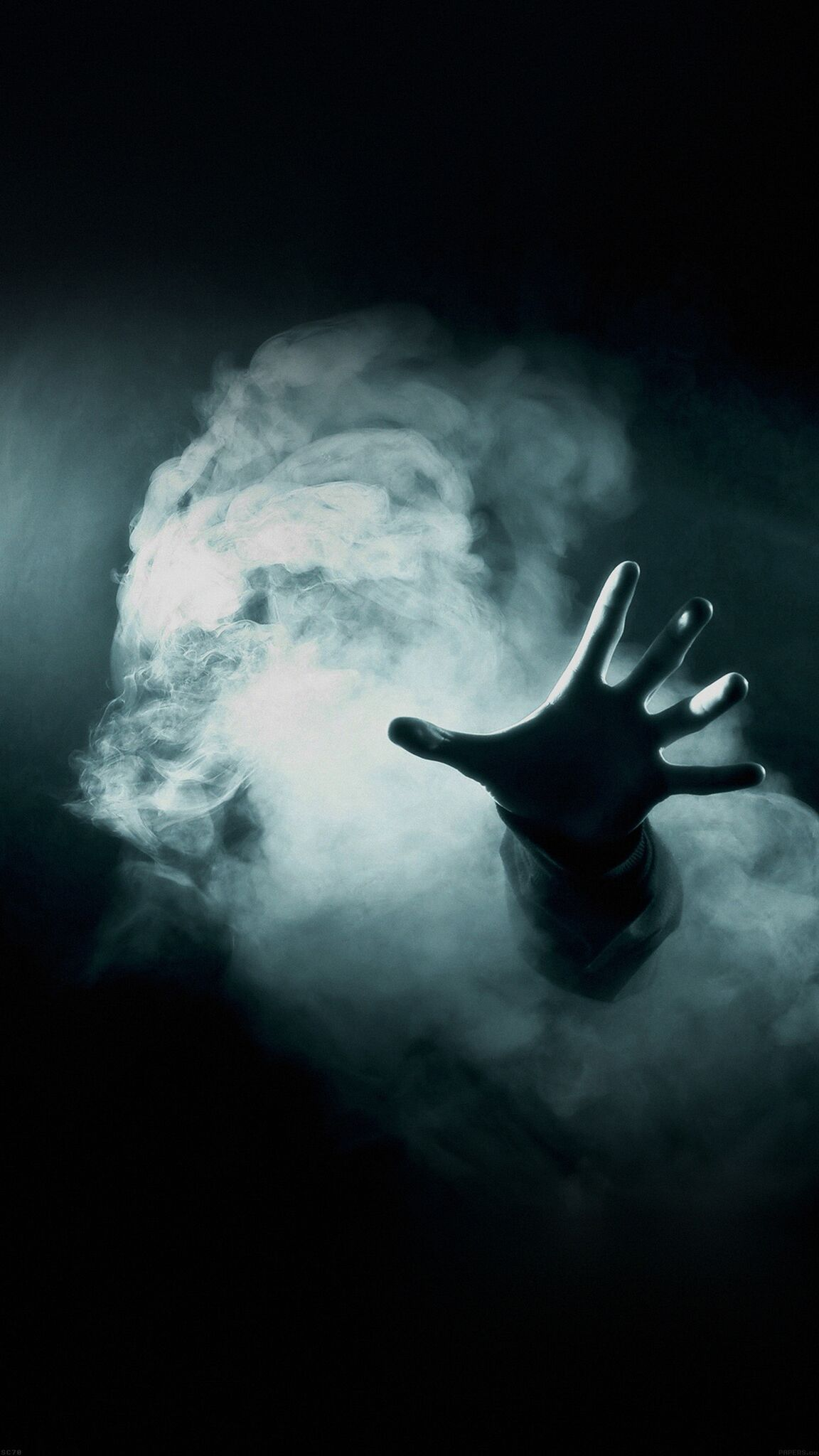 hand-fog-scary-dream-iphone-wallpaper