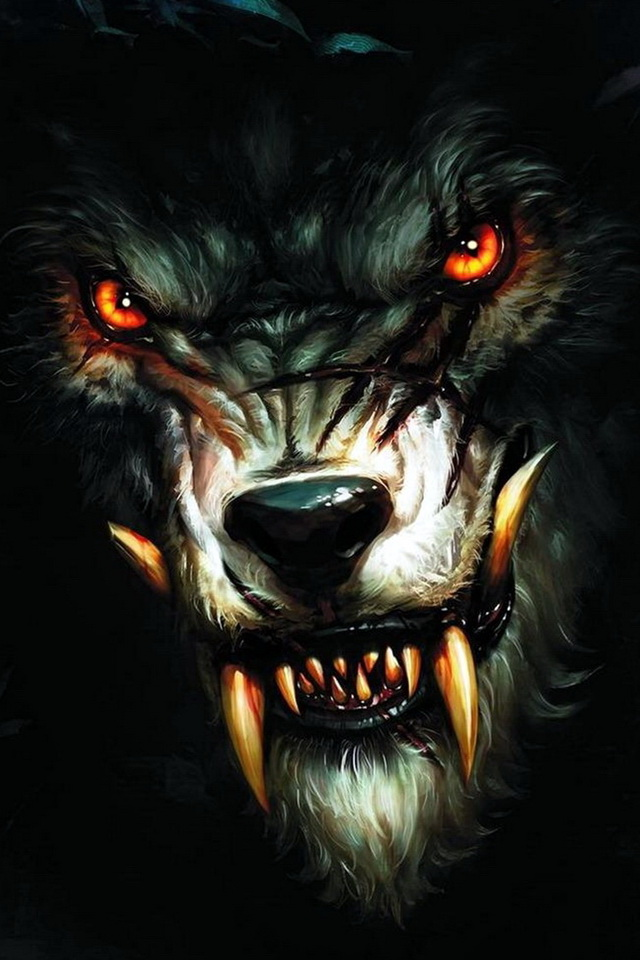 scary-wolf-halloween-iphone-background-wallpapers