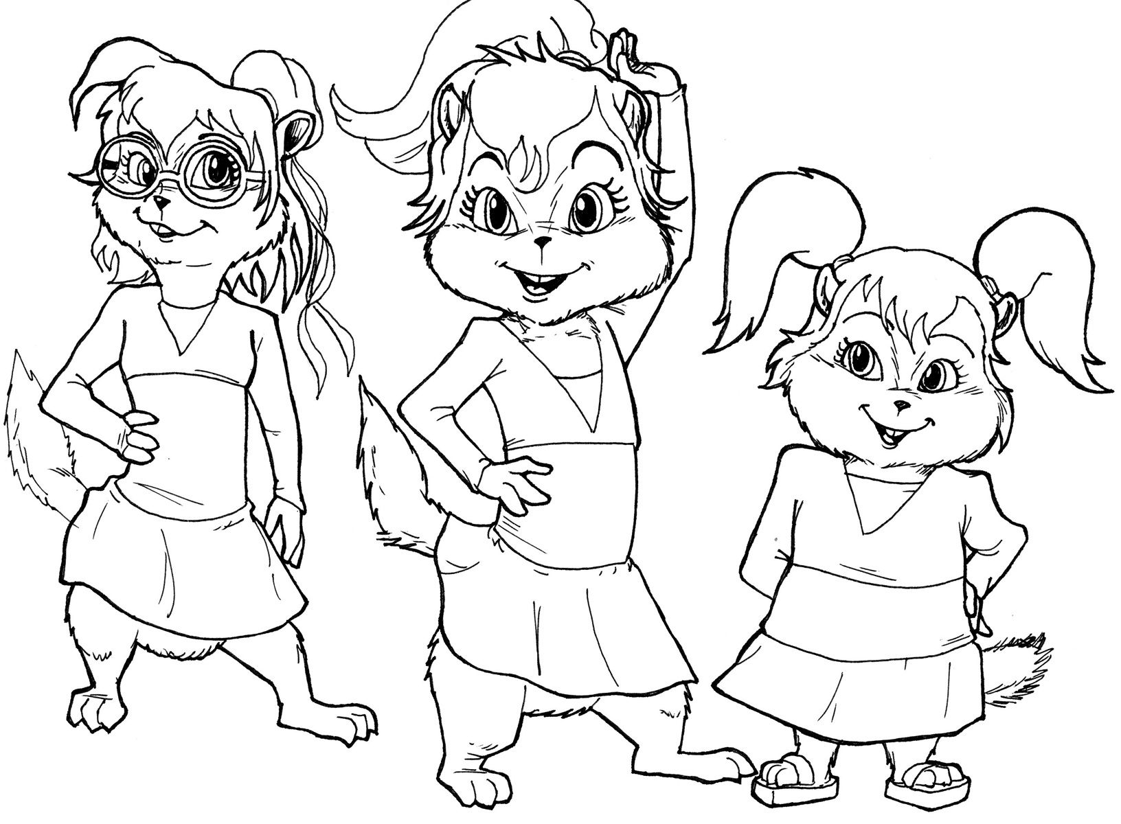 alvin-the-chipmunks-halloween-coloring-pages