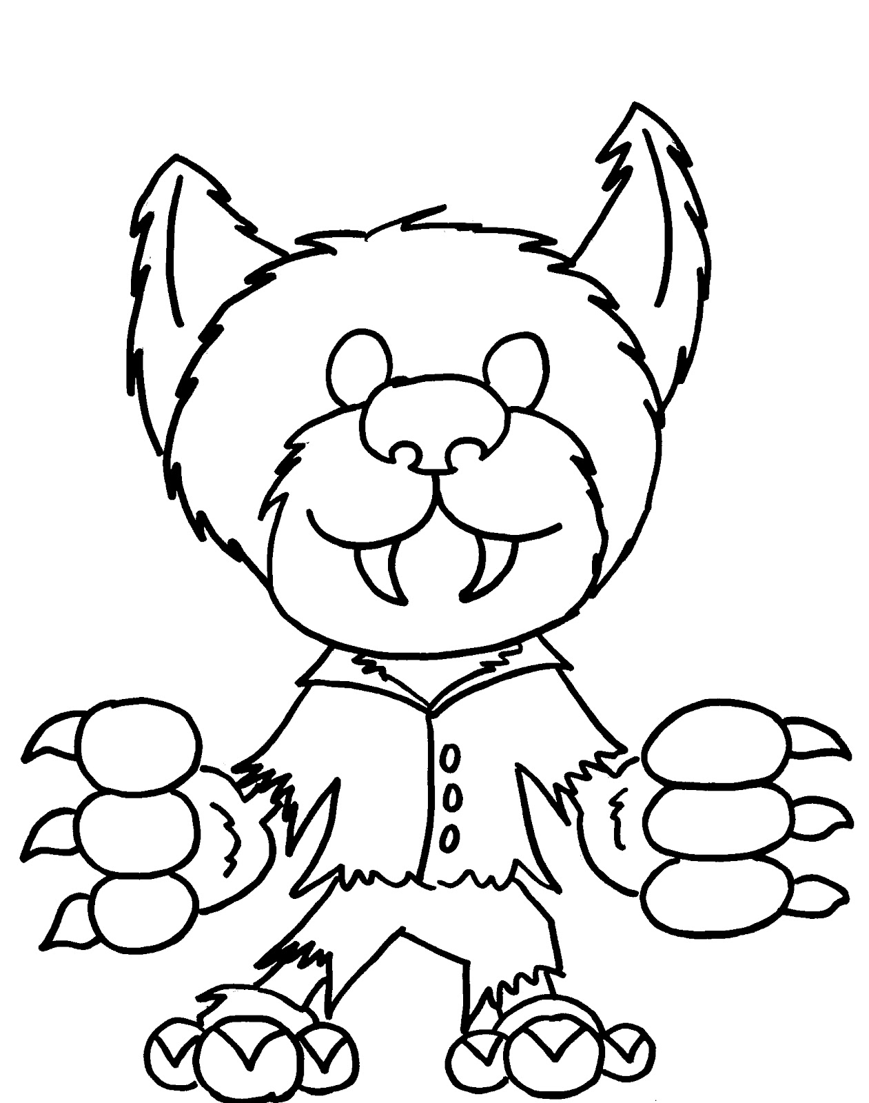 kawaii halloween coloring pages - photo#36