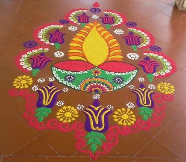 flowers-diya-rangoli-design