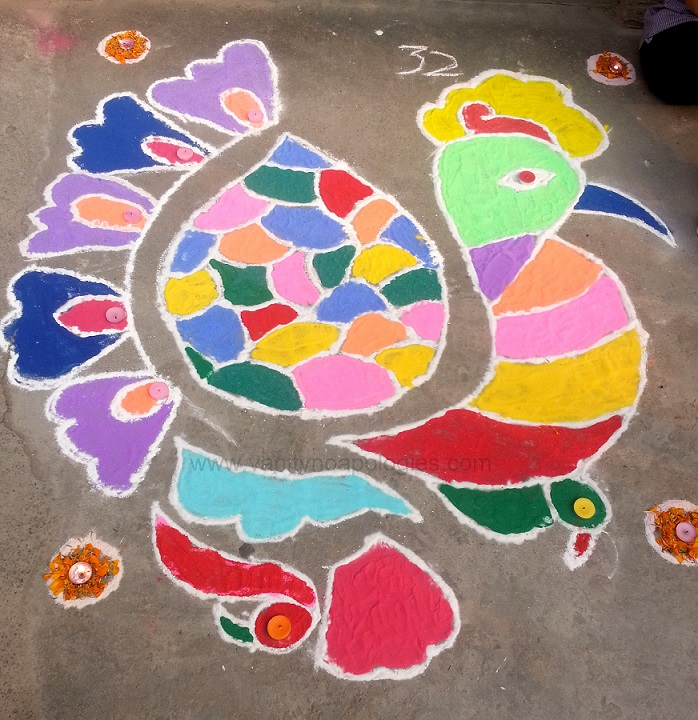 peacock-dot-rangoli-design-easy