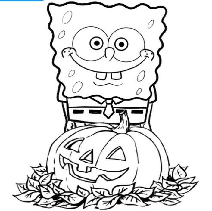 spongebob-halloween-coloring-pages-free