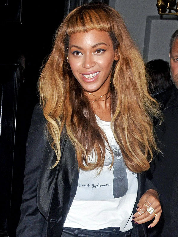 Beyonce bang long hairstyles