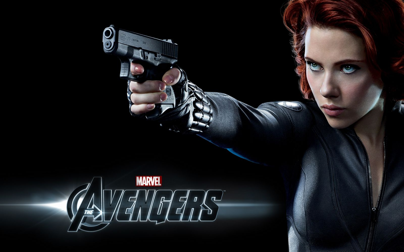 scarlett johansson in the avengers wide