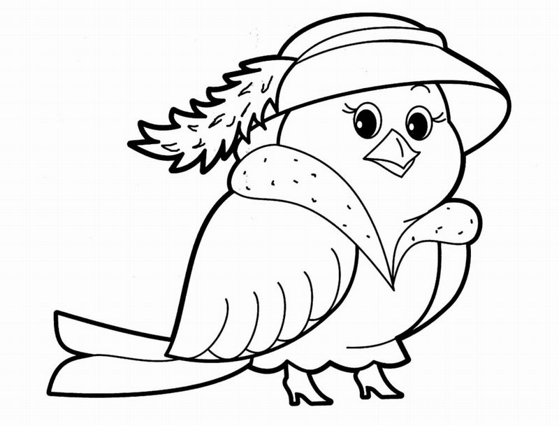 Animals coloring page for babies