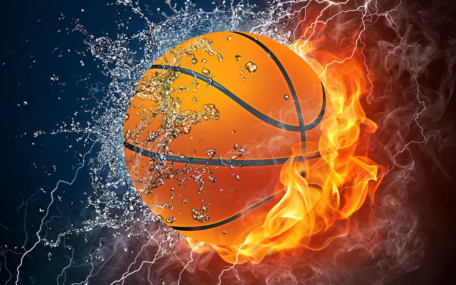 Basketball in colors HD Wallpaper