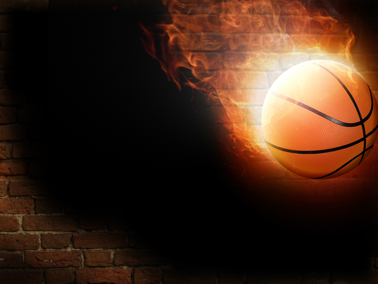 Basketball in fire Wallpaper