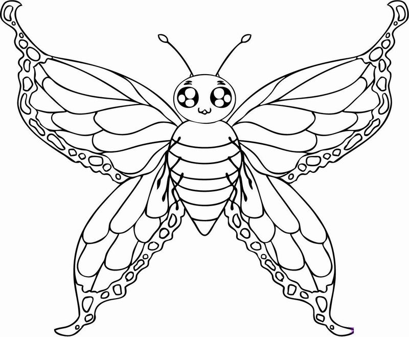 30 beautiful printable butterfly coloring pages for kids - Coloring Pages Butterfly Kids