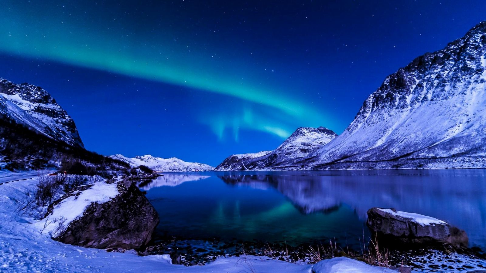 Chill Winter Night Wallpaper