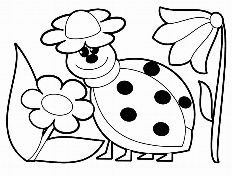 Cute animals coloring pages for babies