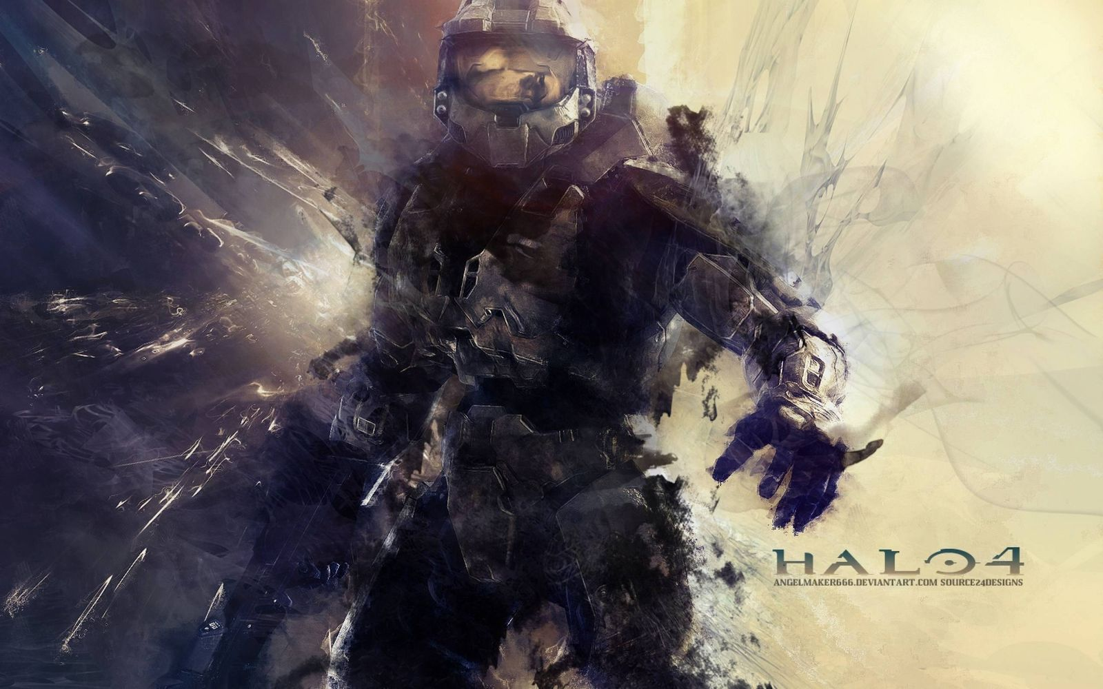 Halo abstract Wallpaper
