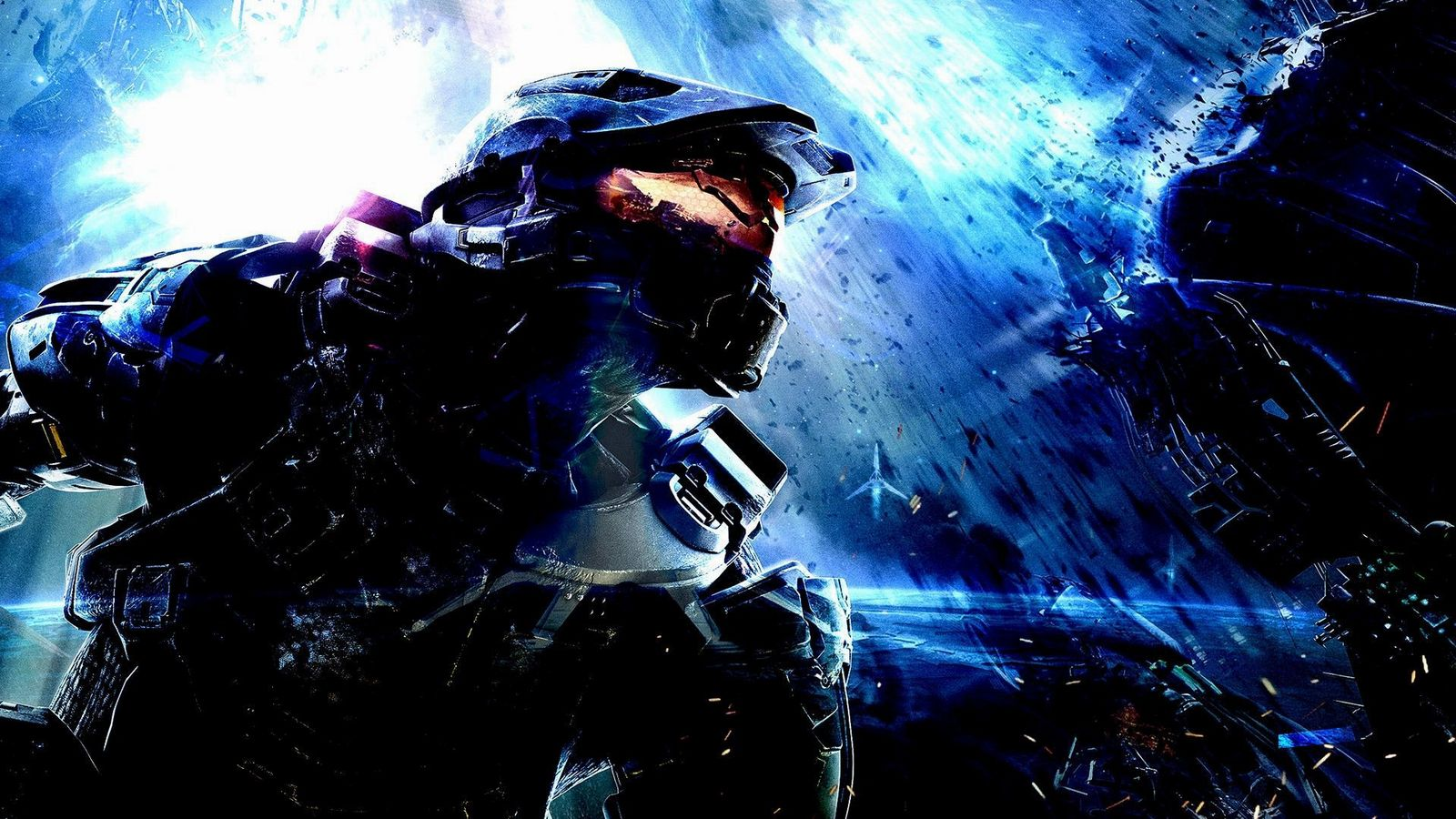 Halo blue background Wallpaper