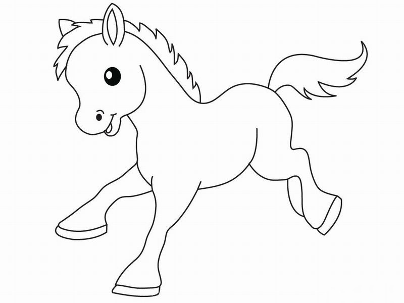 Smiling horse Animal Coloring