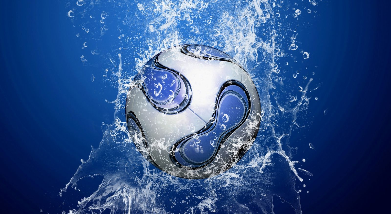 Blue football wallpaper