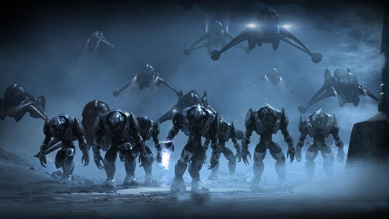 halo army airships night
