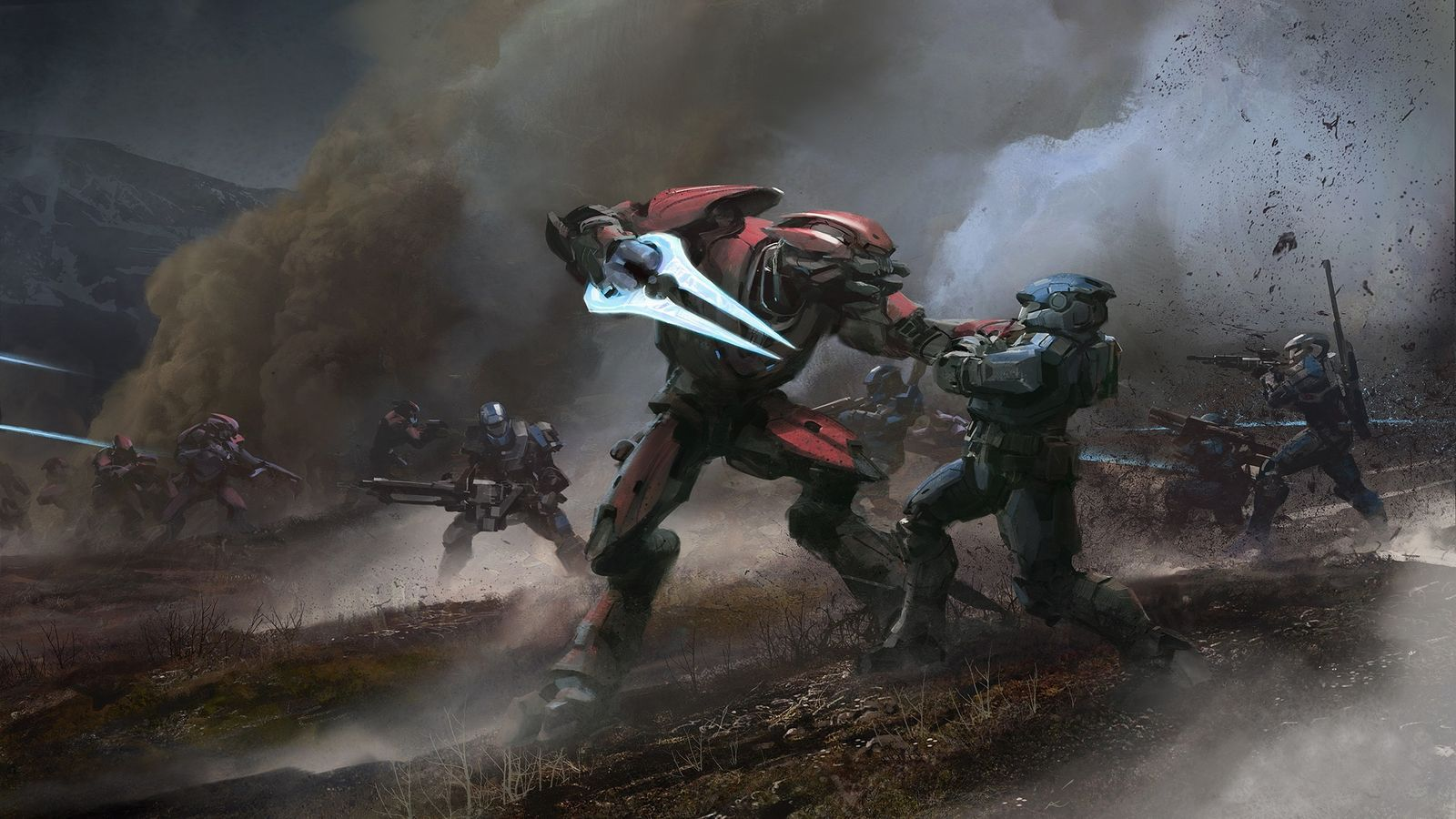 halo fighting hd wallpapers