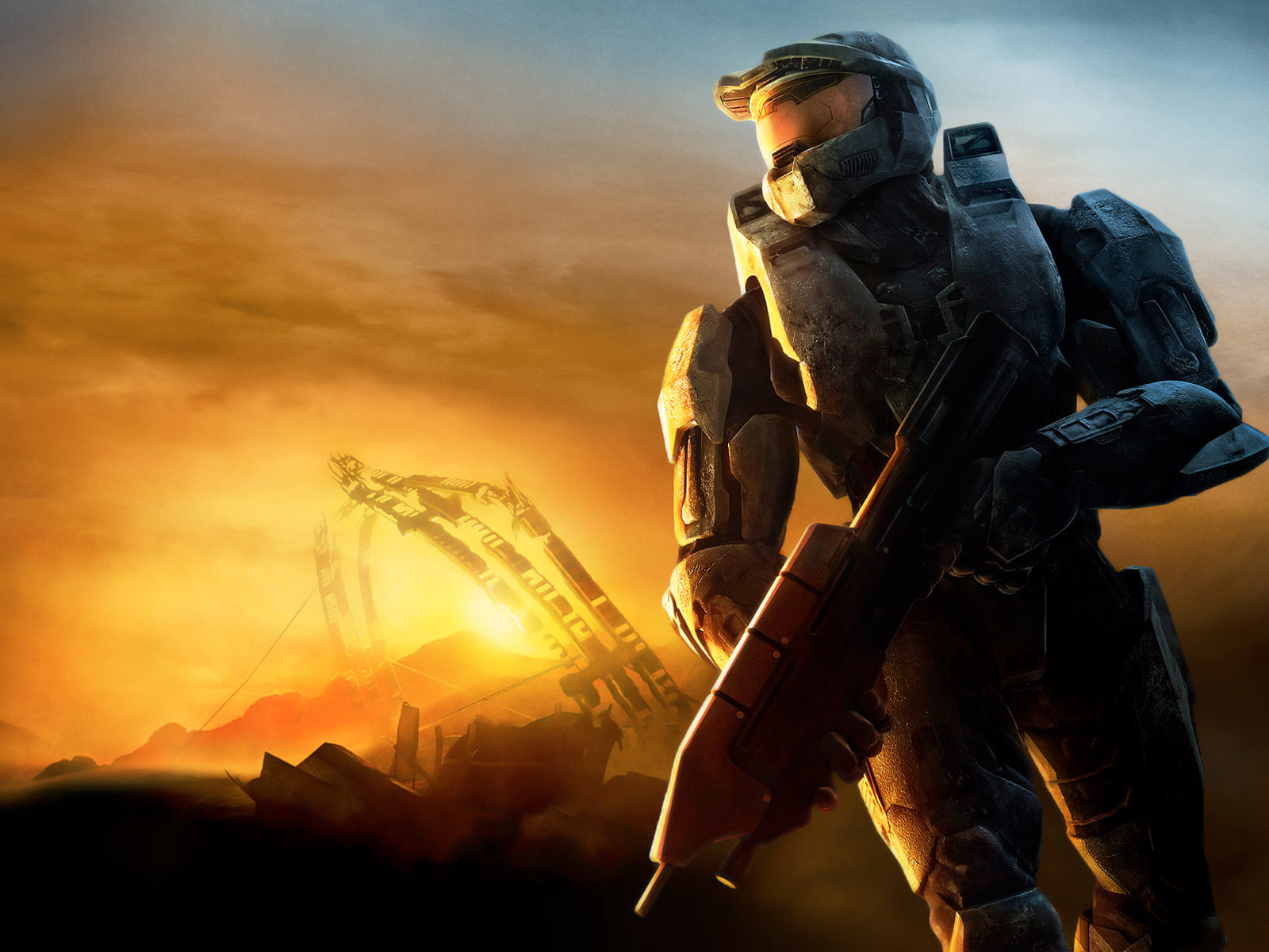 halo sun lights wallpaper