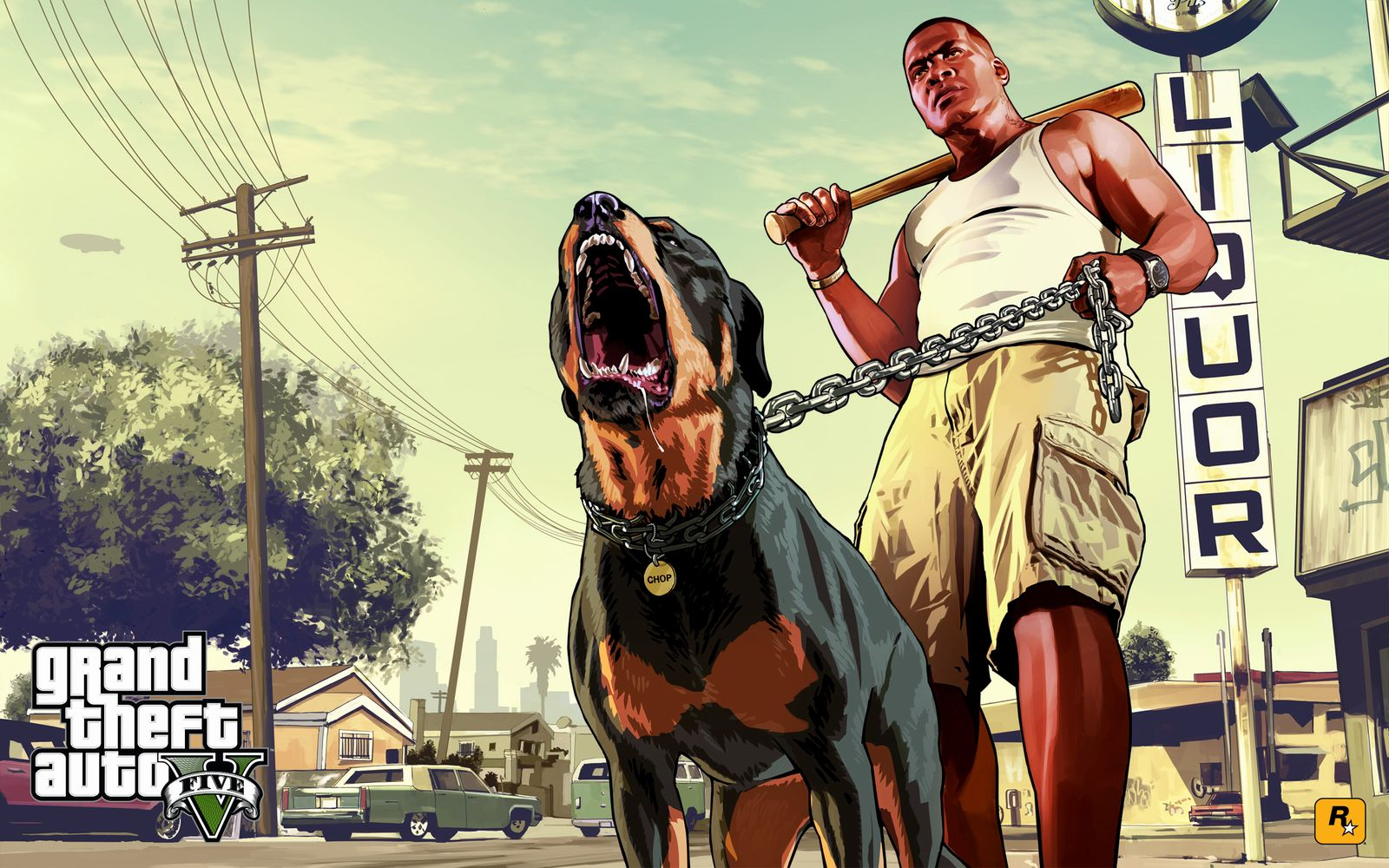 Man and dog wallpaper gta 5