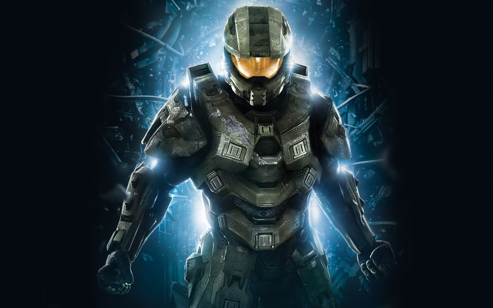 master chief in halo wide wallpaper