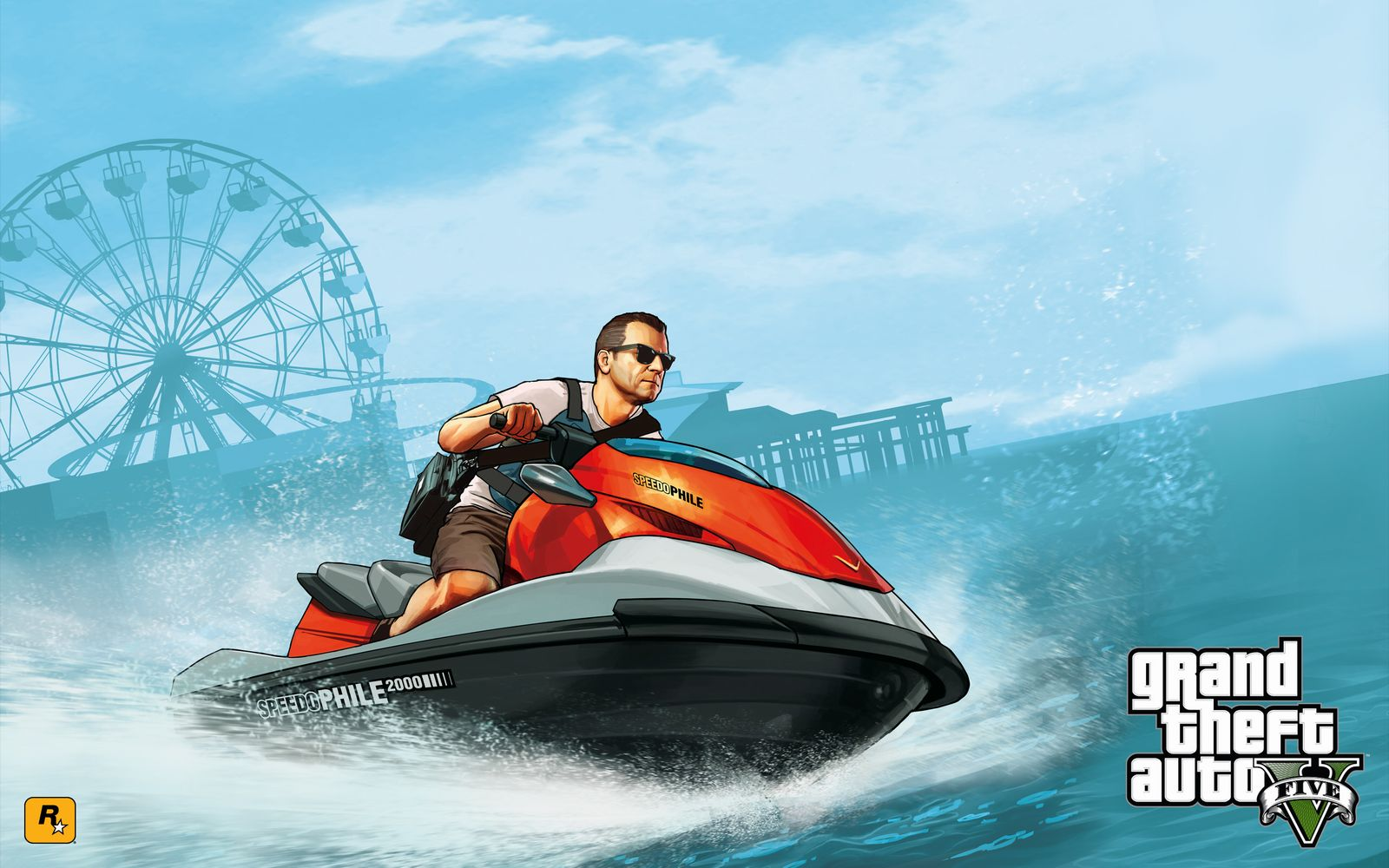 Michael jetski GTA 5 Wallpaper