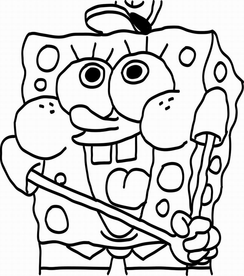 Free Spongebob Coloring Pages Online, Download Free Clip Art, Free ... | 906x800