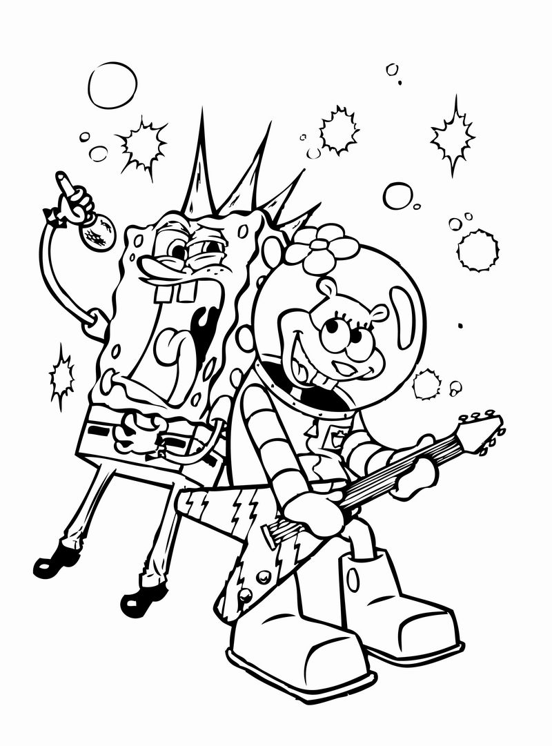 Coloring Pages Spongebob Patrick