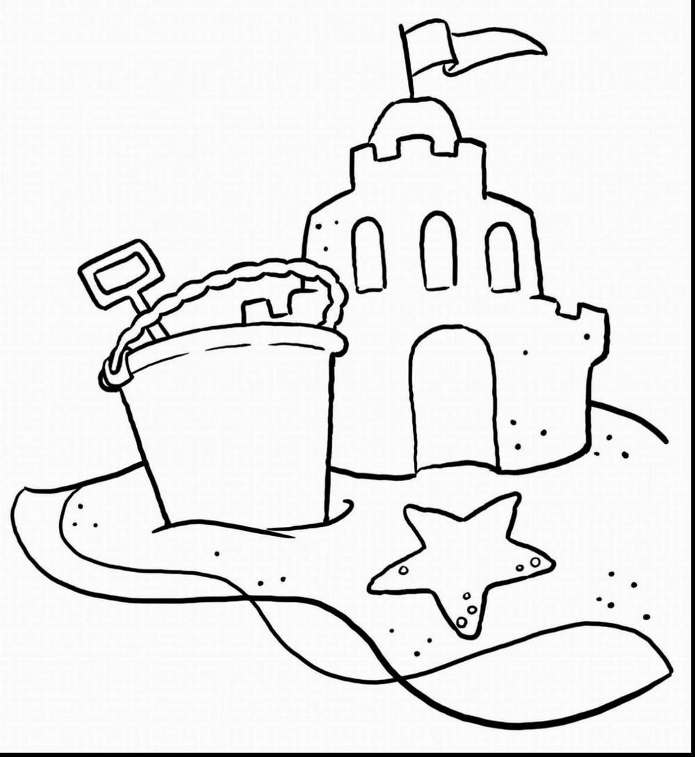 outstanding beach coloring pages