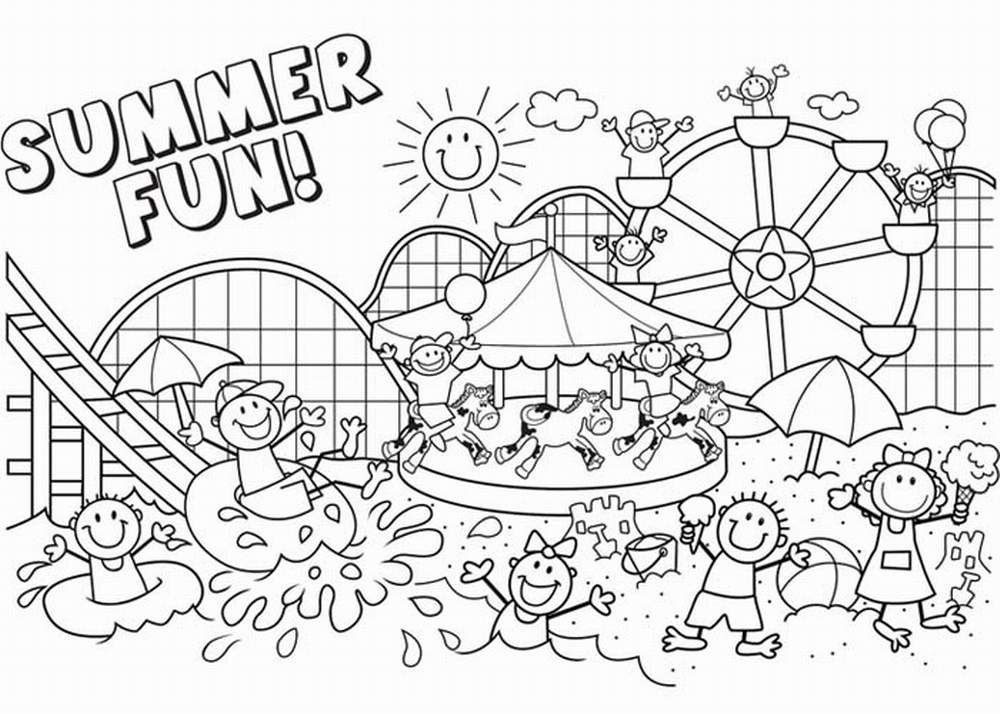 Pictures Name Summer Coloring Funchap